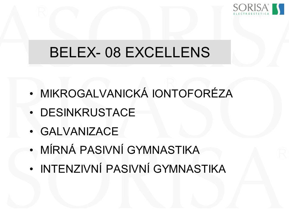 BELEX- 08 EXCELLENS MIKROGALVANICKÁ IONTOFORÉZA DESINKRUSTACE