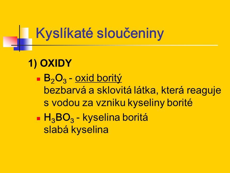 Kyslíkaté sloučeniny 1) OXIDY