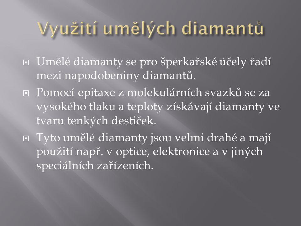 Využití umělých diamantů