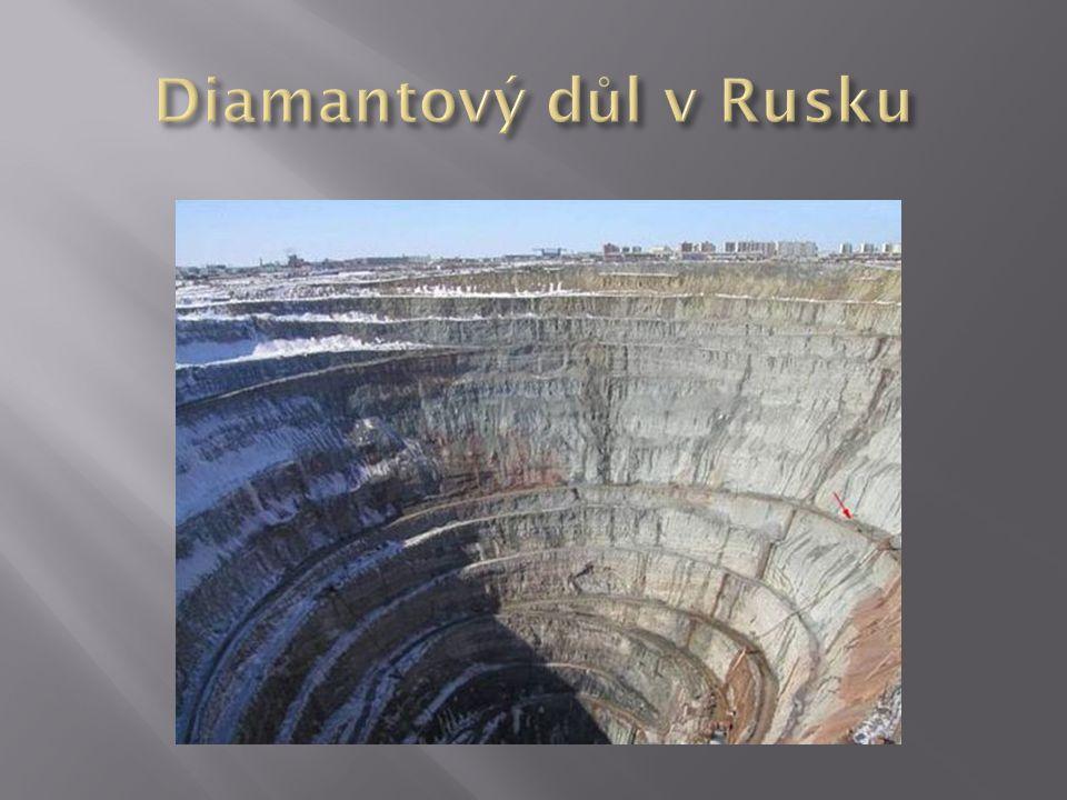 Diamantový důl v Rusku