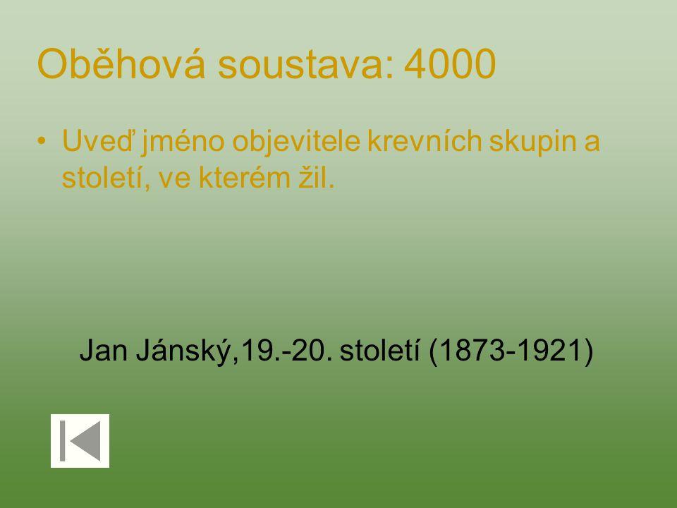Jan Jánský,19.-20. století (1873-1921)