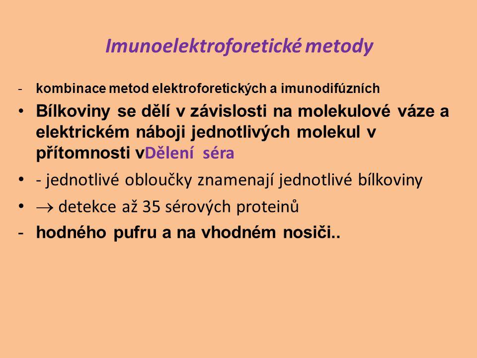 Imunoelektroforetické metody