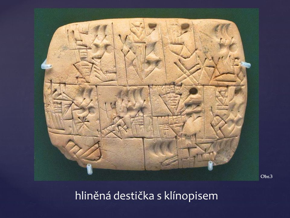 hliněná destička s klínopisem