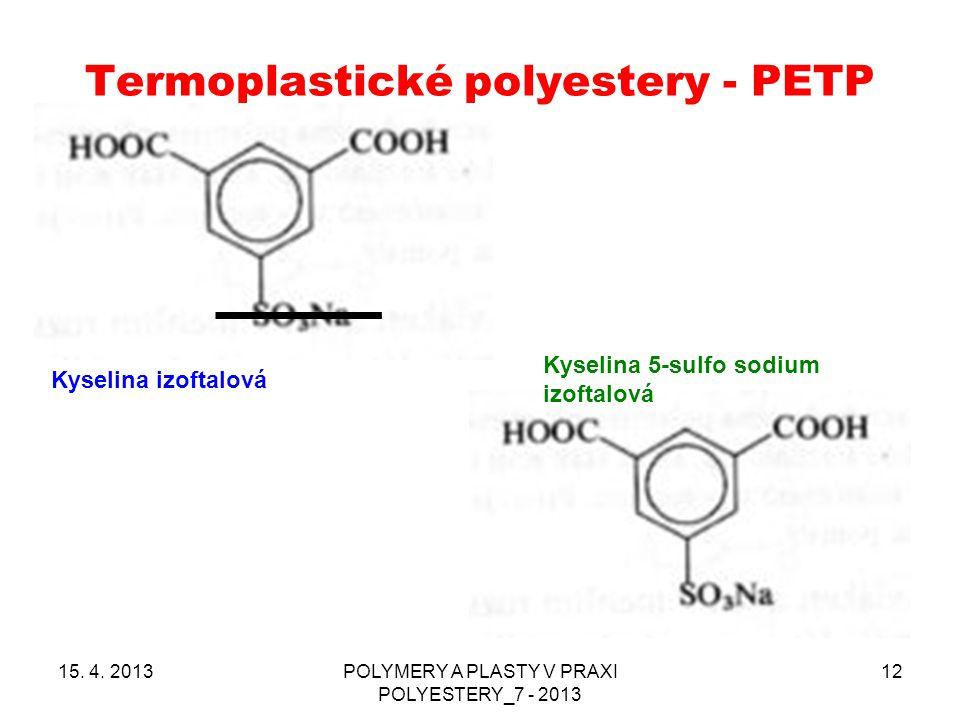 Termoplastické polyestery - PETP