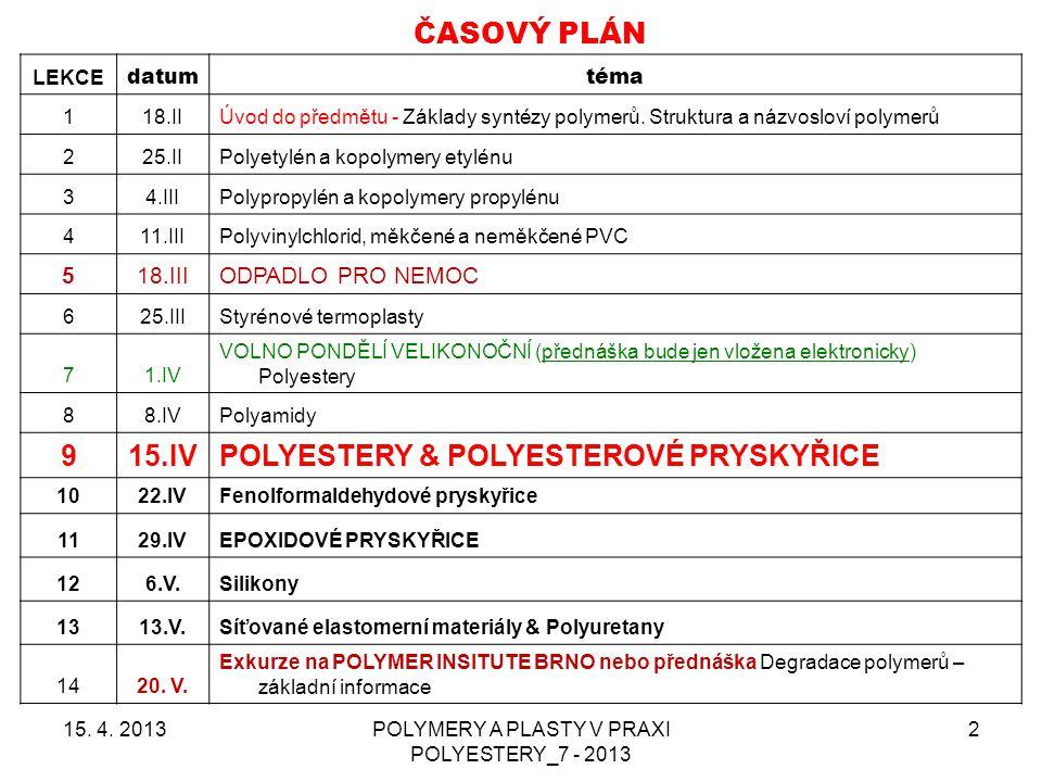 POLYMERY A PLASTY V PRAXI POLYESTERY_7 - 2013