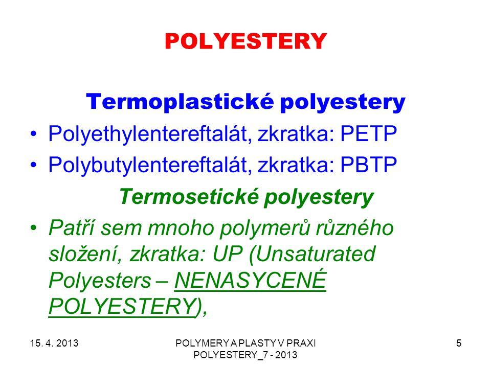 Termosetické polyestery
