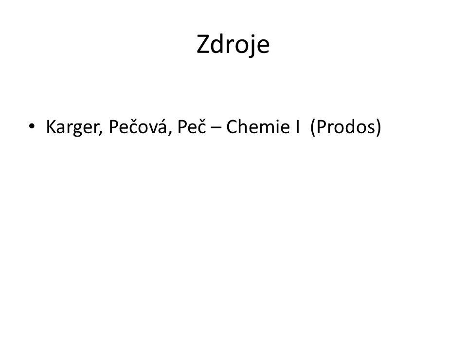 Zdroje Karger, Pečová, Peč – Chemie I (Prodos)