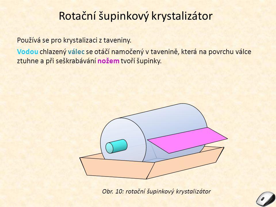 Rotační šupinkový krystalizátor
