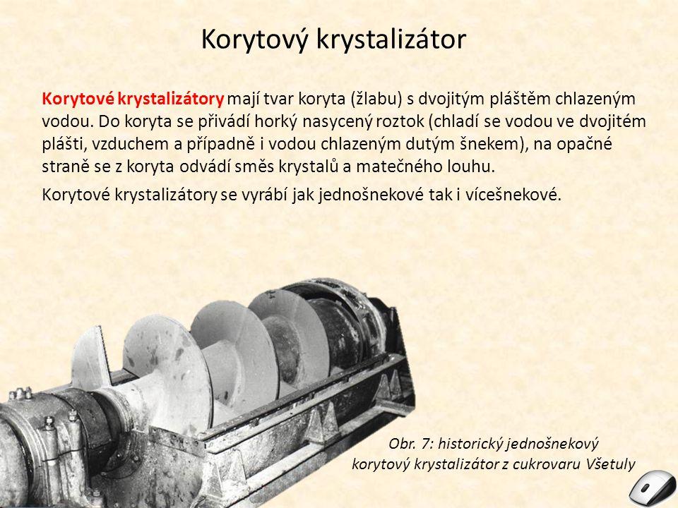 Korytový krystalizátor