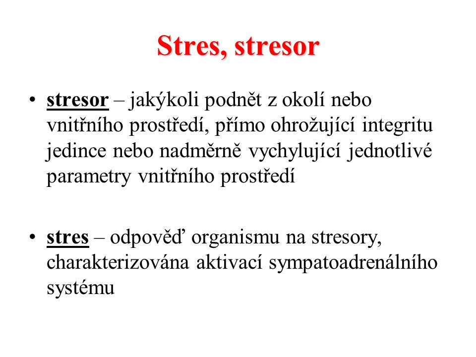 Stres, stresor