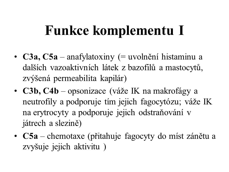 Funkce komplementu I