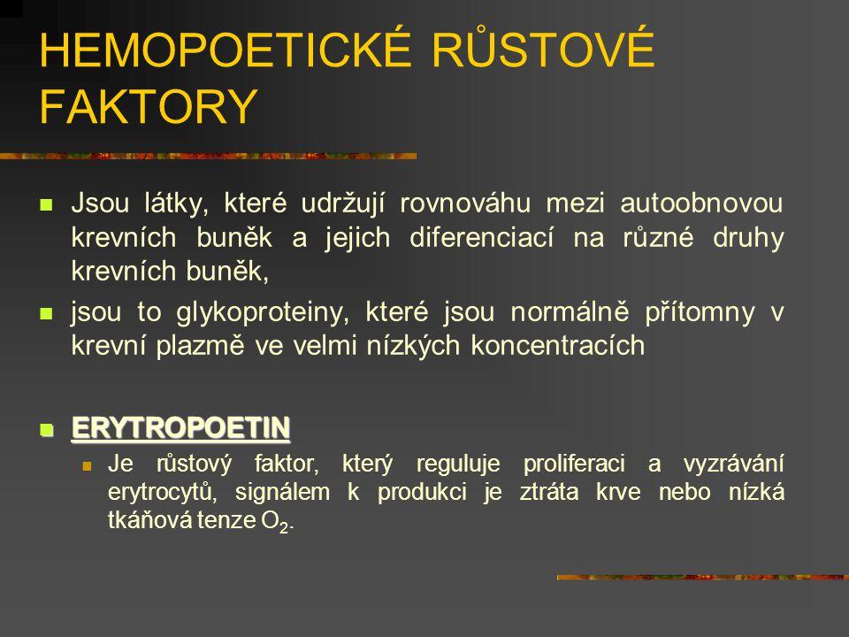 HEMOPOETICKÉ RŮSTOVÉ FAKTORY