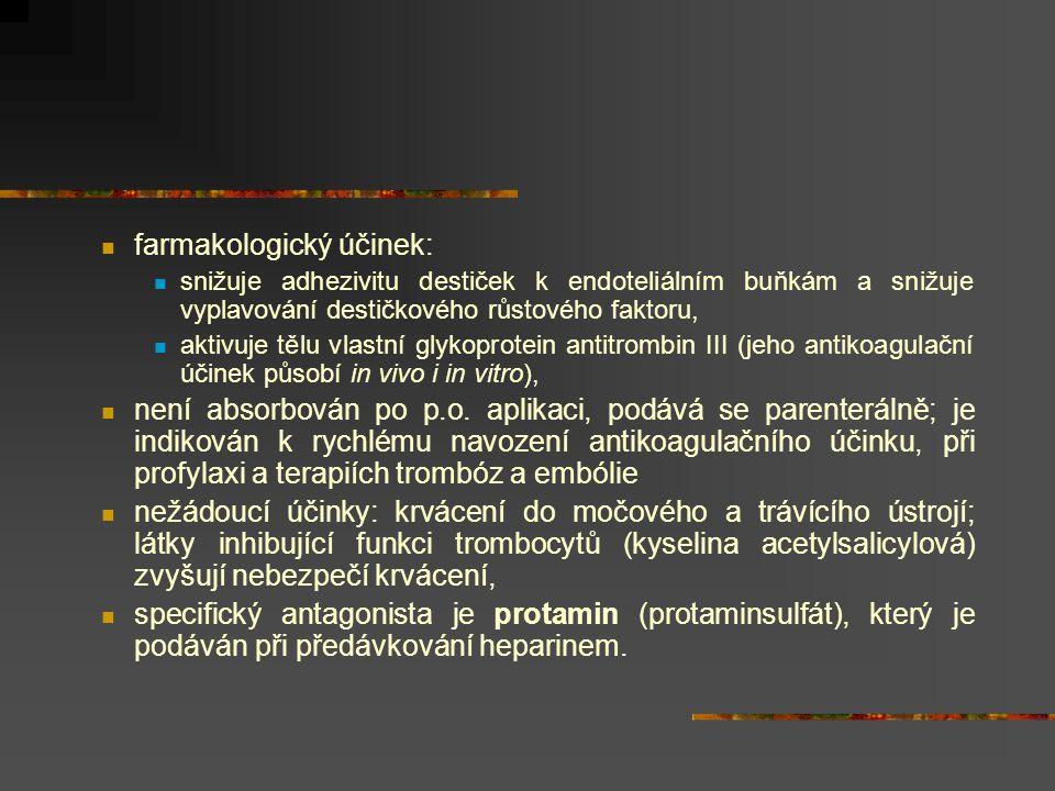 farmakologický účinek:
