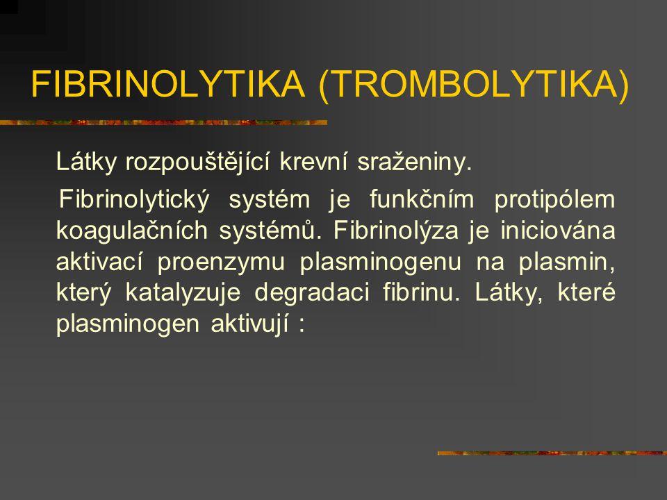 FIBRINOLYTIKA (TROMBOLYTIKA)
