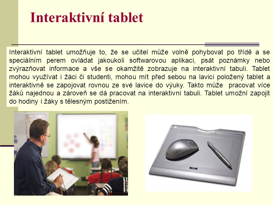 Interaktivní tablet