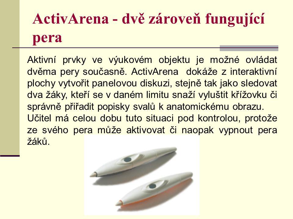 ActivArena - dvě zároveň fungující pera