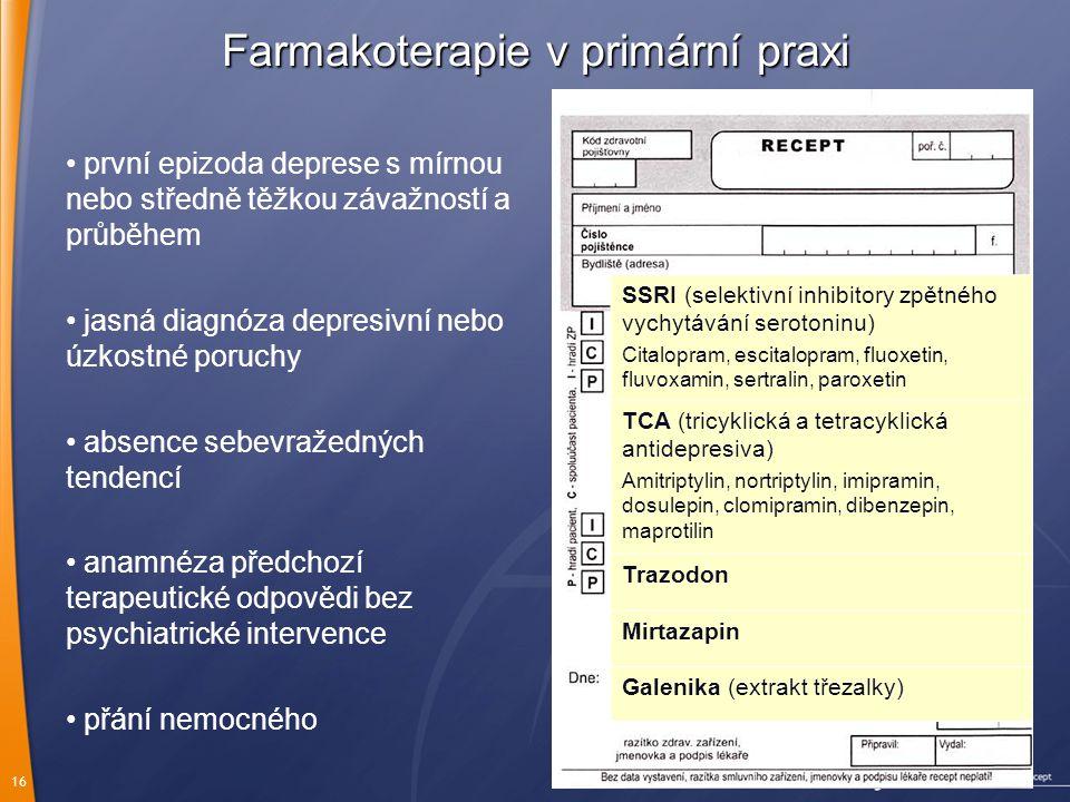 Farmakoterapie v primární praxi