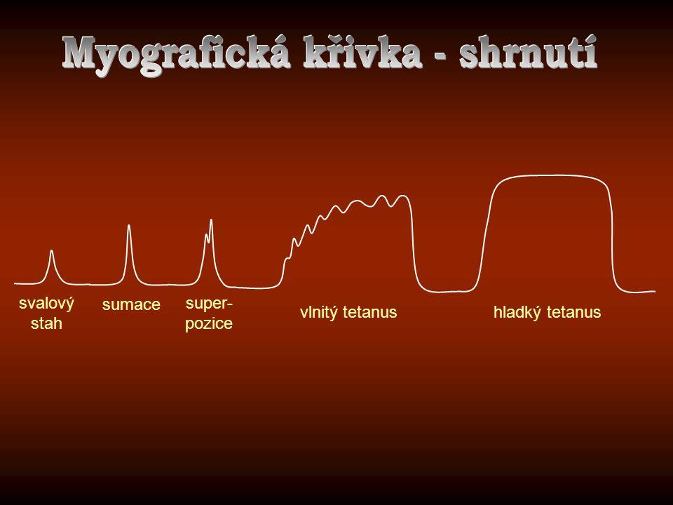 Myografická křivka - shrnutí