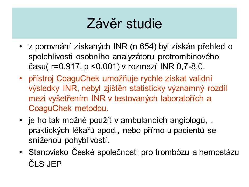 Závěr studie