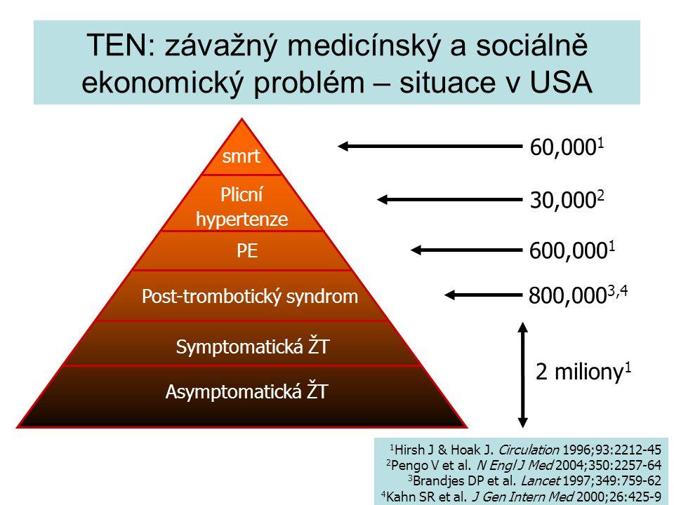 TEN: závažný medicínský a sociálně ekonomický problém – situace v USA