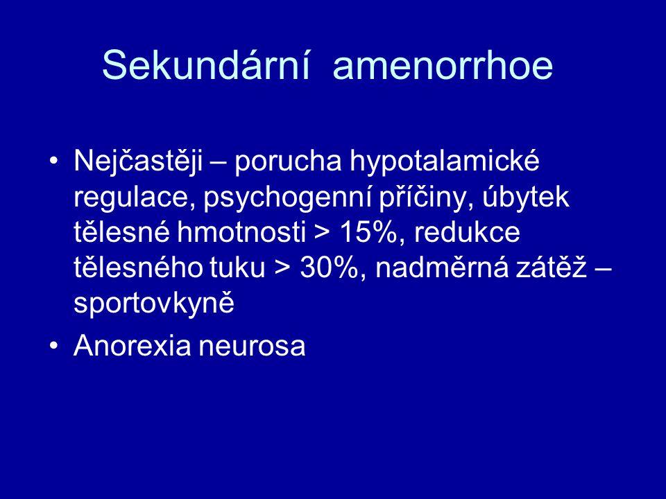 Sekundární amenorrhoe