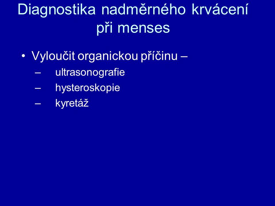Diagnostika nadměrného krvácení při menses