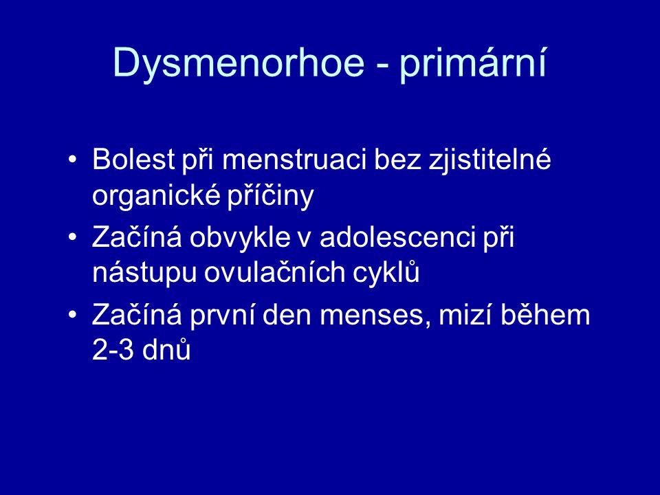 Dysmenorhoe - primární