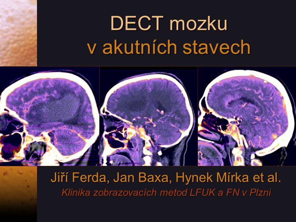 DECT mozku v akutních stavech