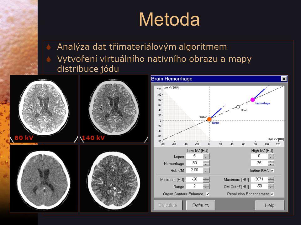 Metoda Analýza dat třímateriálovým algoritmem