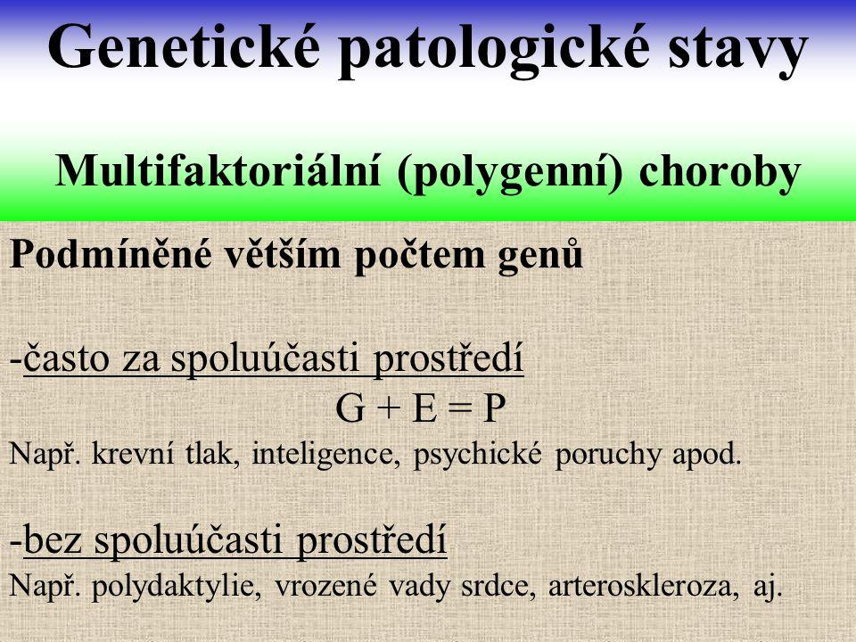 Multifaktoriální (polygenní) choroby