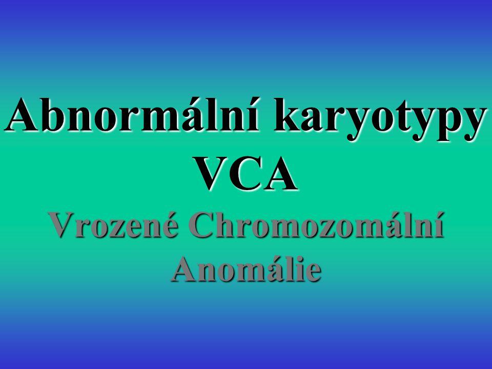 Abnormální karyotypy VCA Vrozené Chromozomální Anomálie