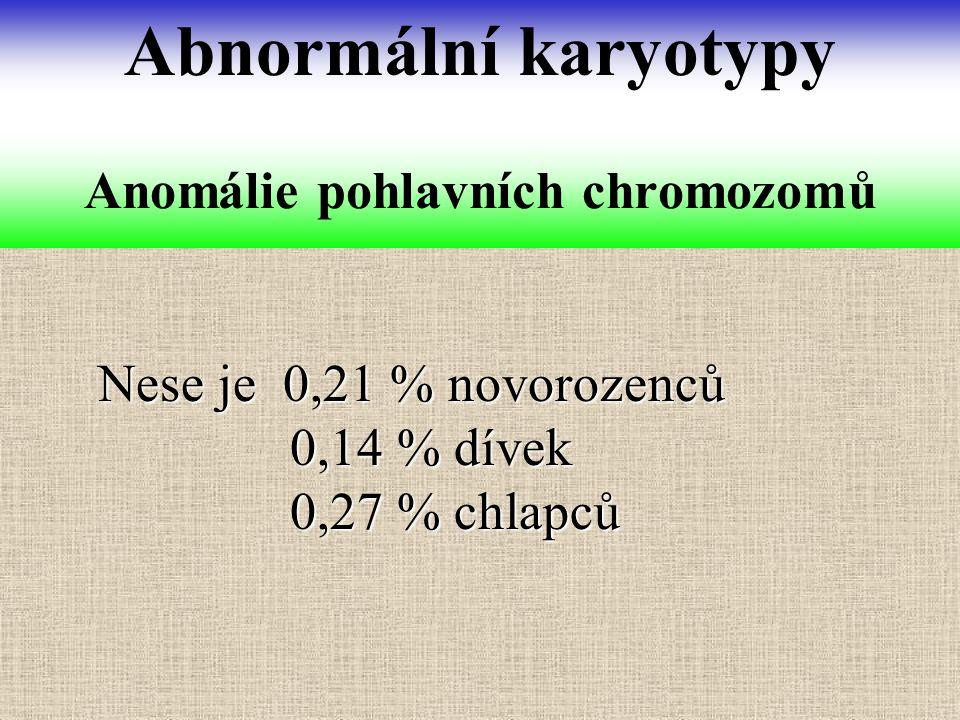 Anomálie pohlavních chromozomů