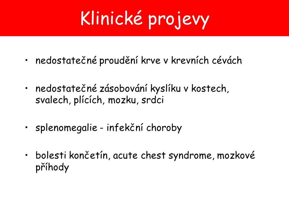 Klinické projevy nedostatečné proudění krve v krevních cévách