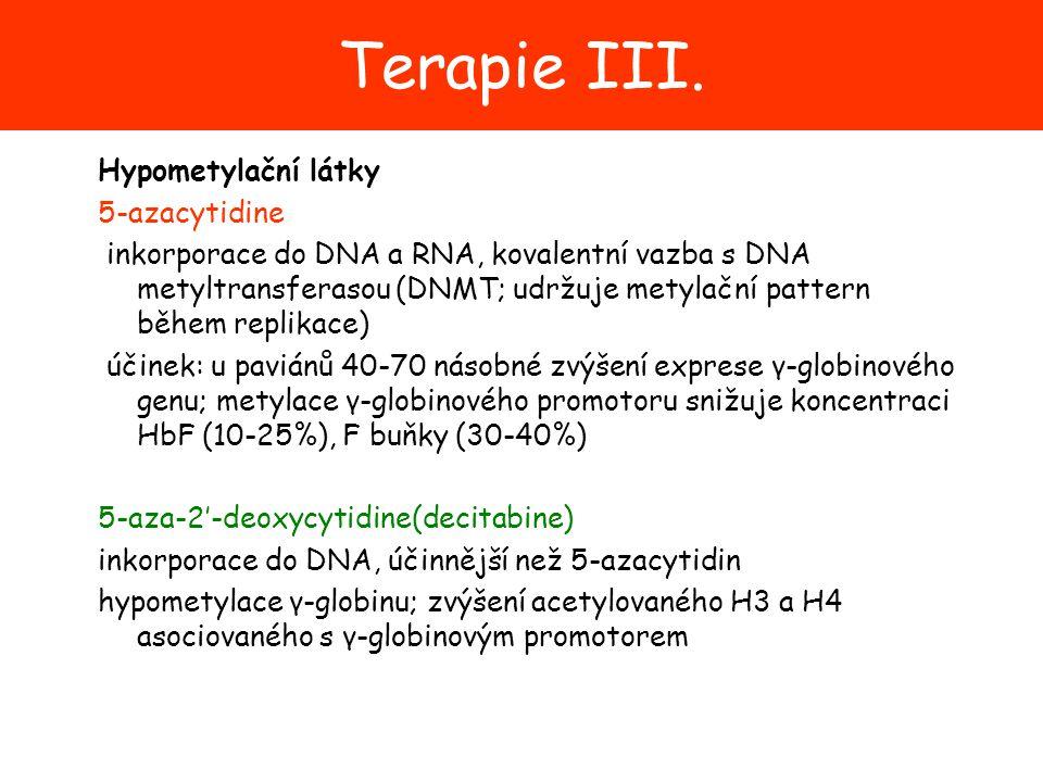 Terapie III. Hypometylační látky 5-azacytidine
