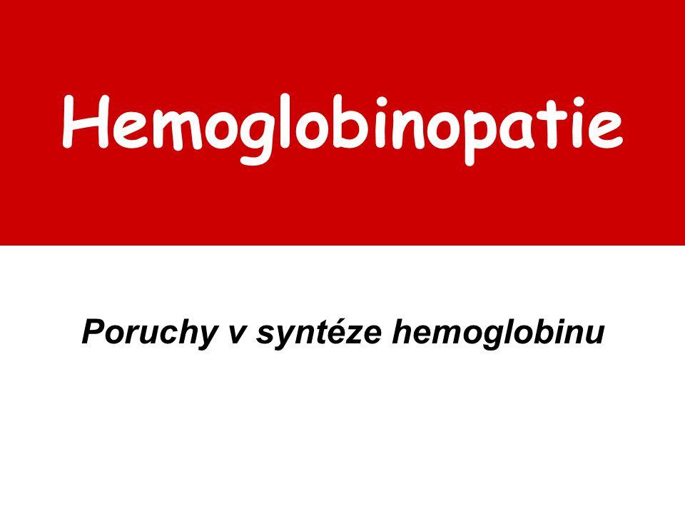 Poruchy v syntéze hemoglobinu