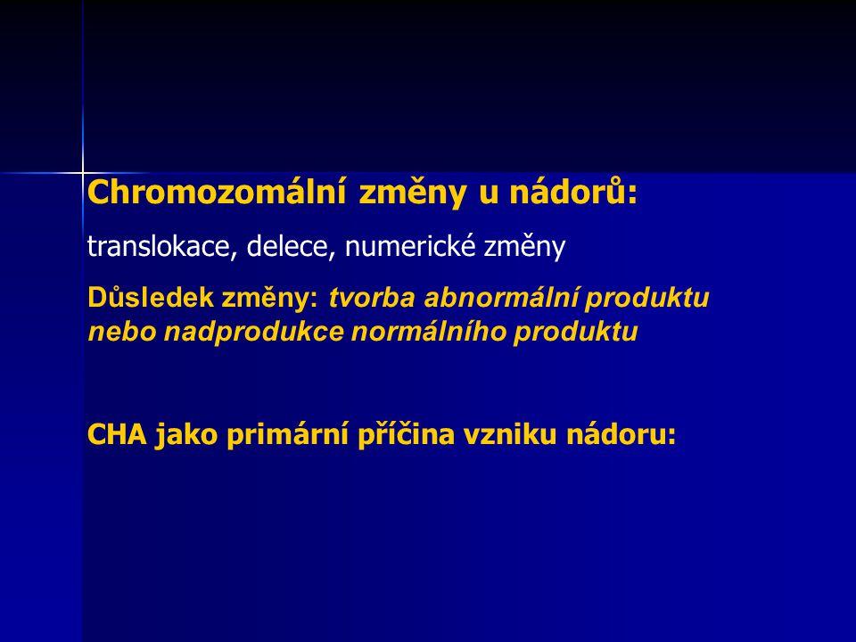 Chromozomální změny u nádorů: