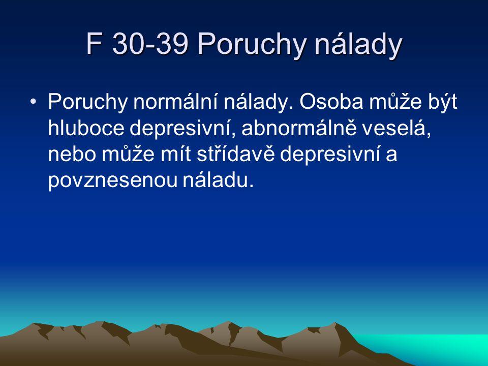 F 30-39 Poruchy nálady