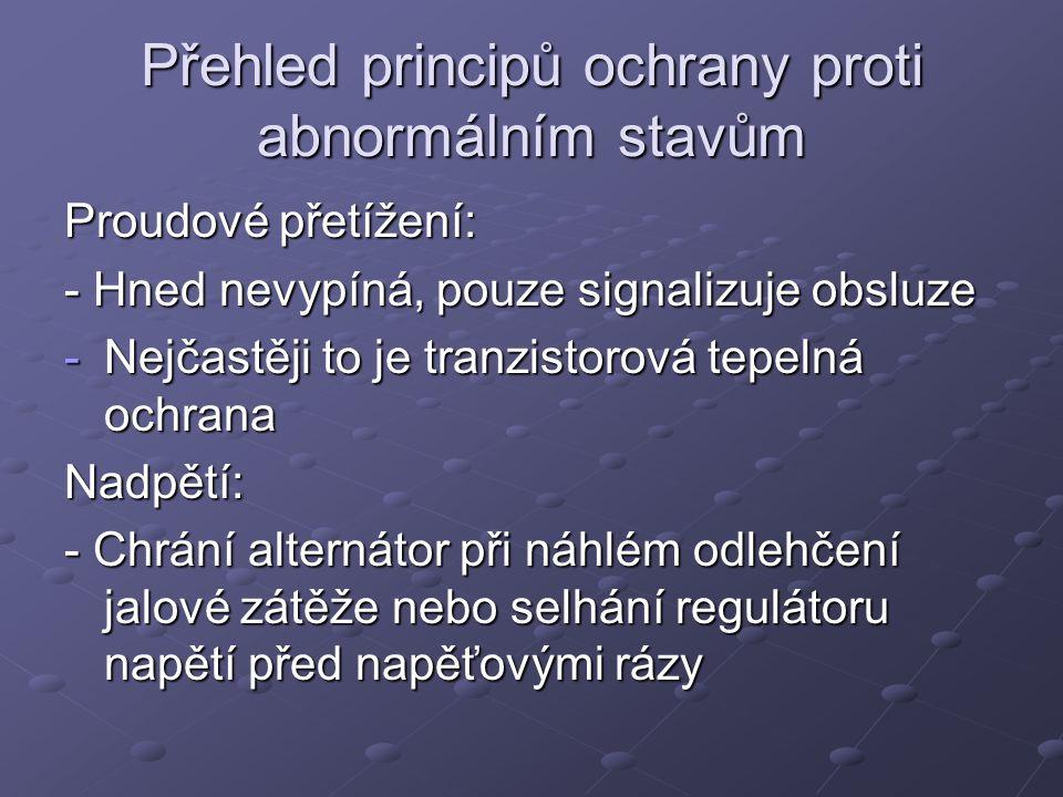 Přehled principů ochrany proti abnormálním stavům