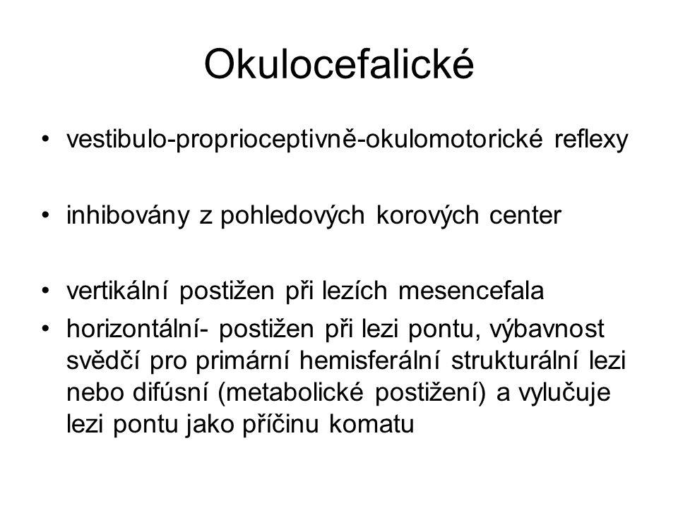 Okulocefalické vestibulo-proprioceptivně-okulomotorické reflexy