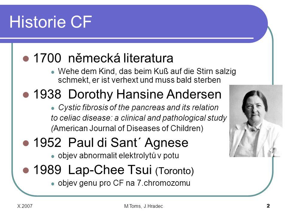 Historie CF 1700 německá literatura 1938 Dorothy Hansine Andersen