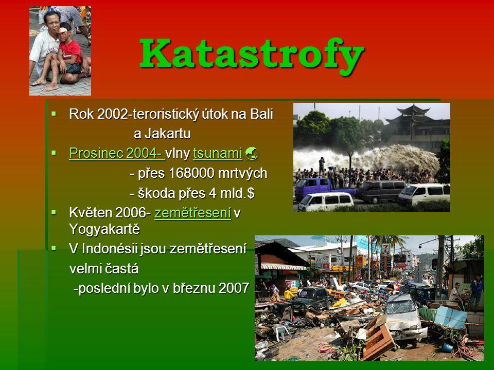 Katastrofy Rok 2002-teroristický útok na Bali a Jakartu