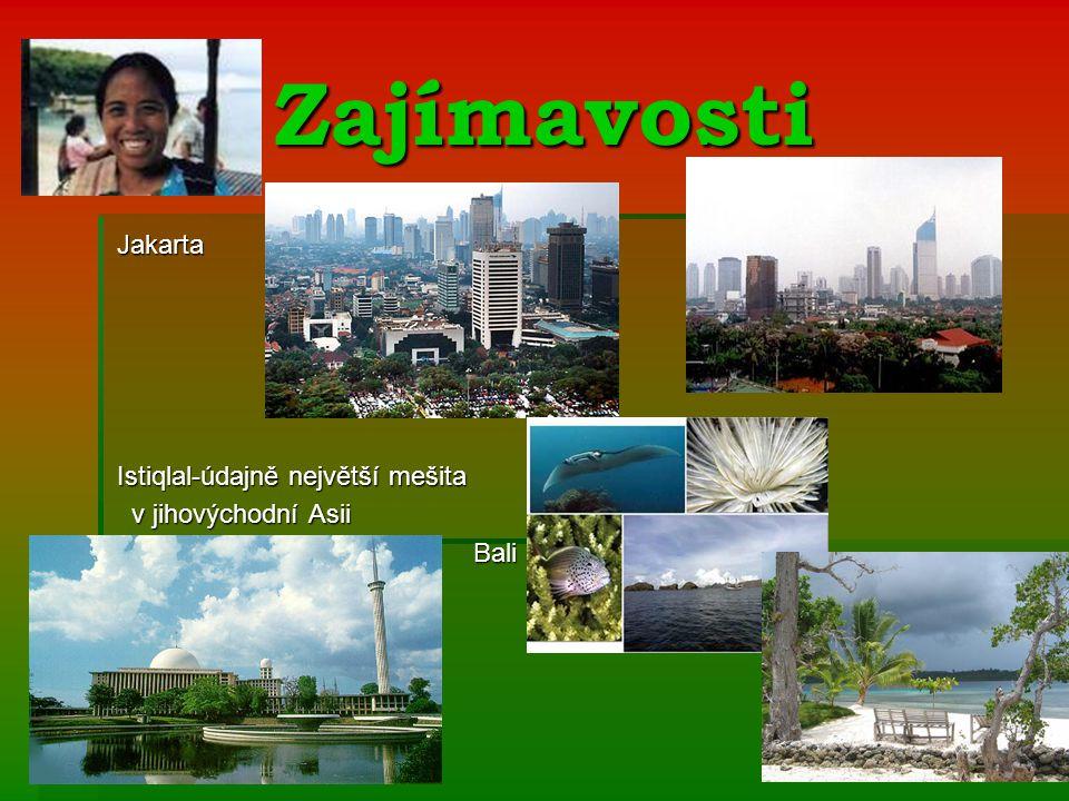 Zajímavosti Jakarta Istiqlal-údajně největší mešita
