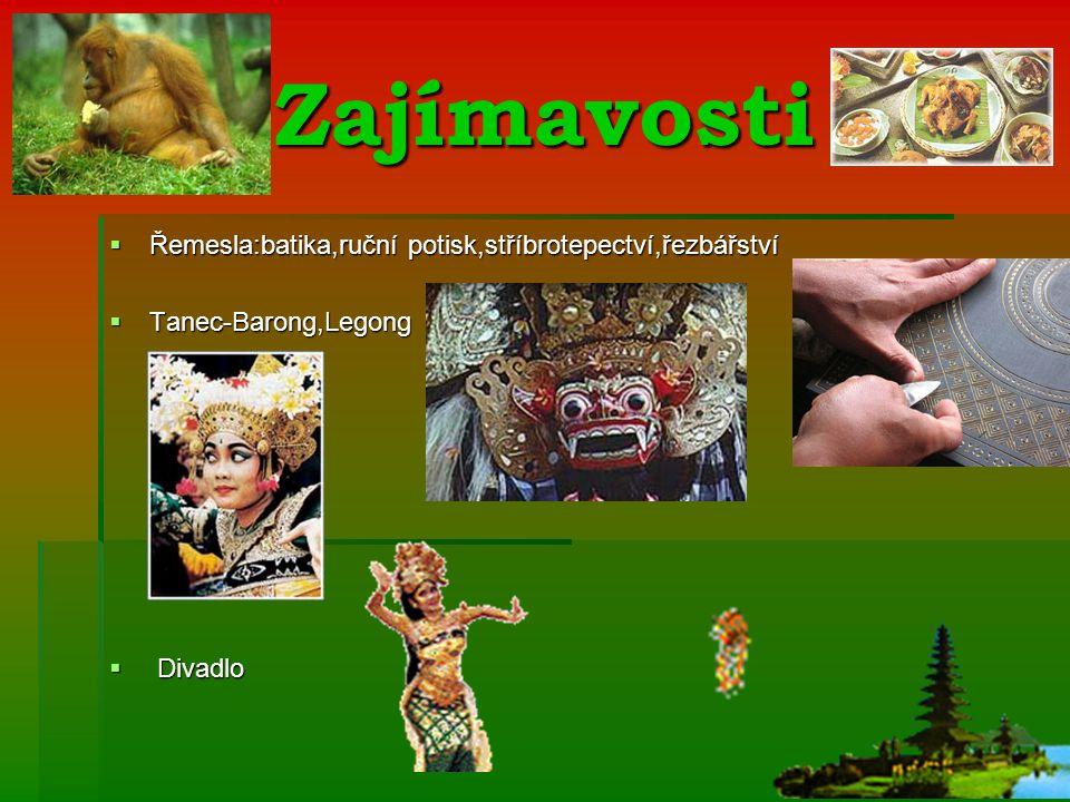 Zajímavosti Řemesla:batika,ruční potisk,stříbrotepectví,řezbářství