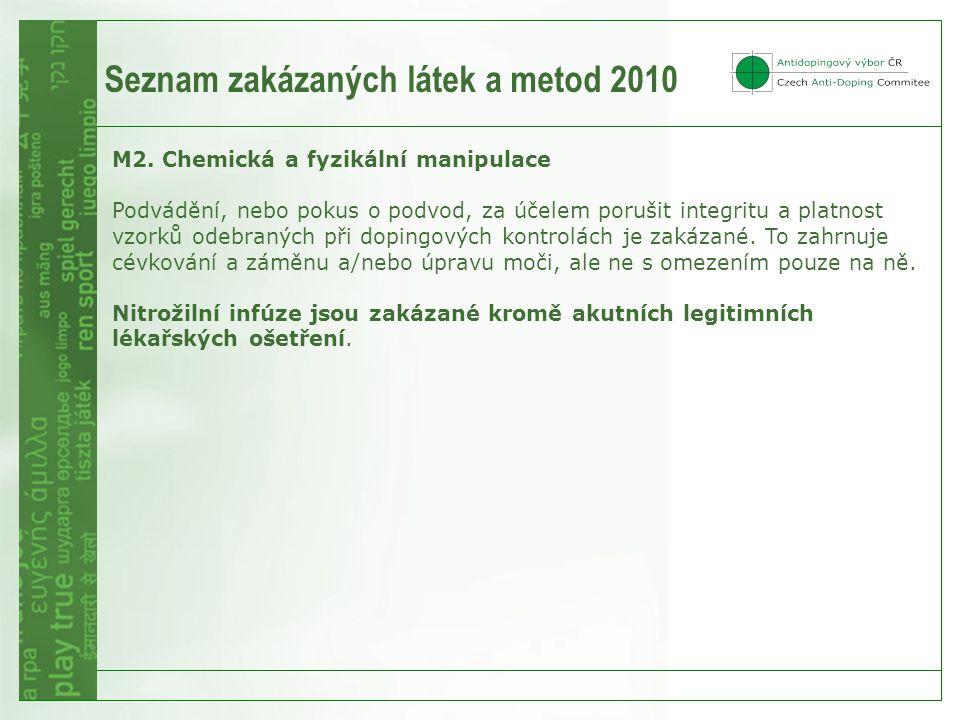 Seznam zakázaných látek a metod 2010