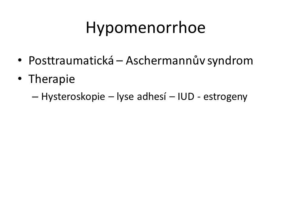 Hypomenorrhoe Posttraumatická – Aschermannův syndrom Therapie