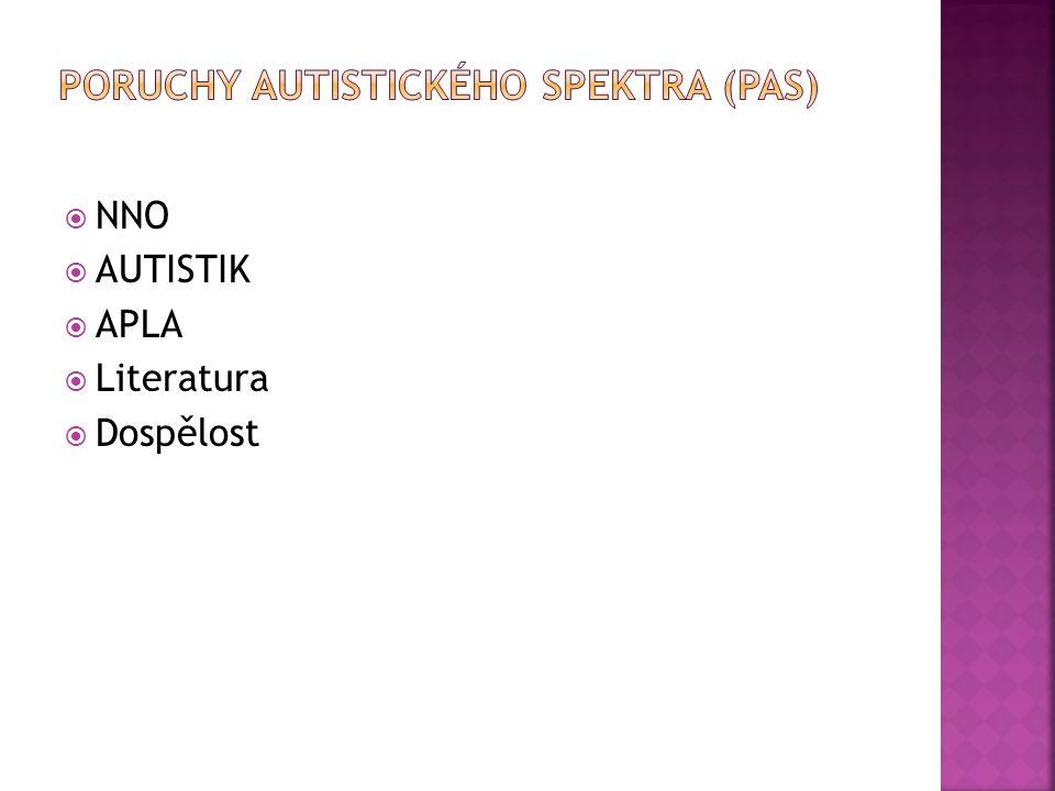 Poruchy autistického spektra (PAS)
