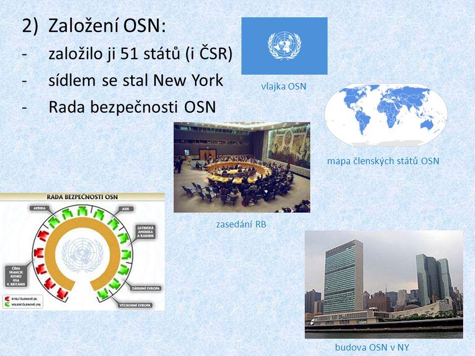 mapa členských států OSN