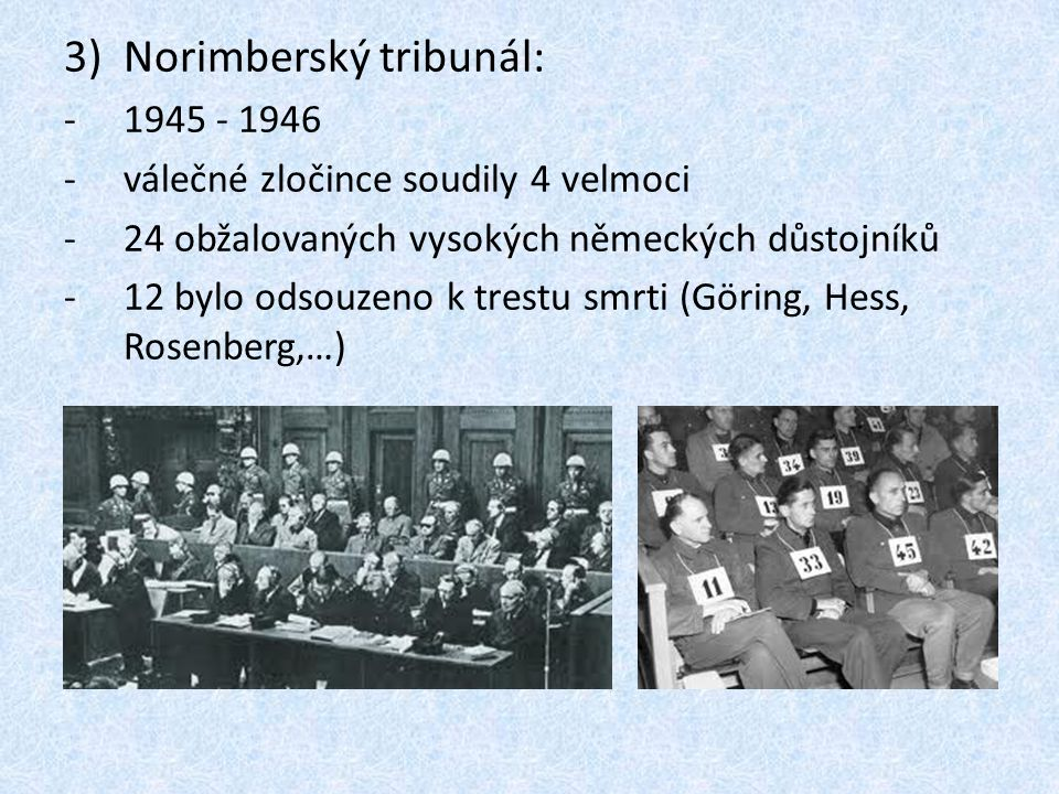 Norimberský tribunál: