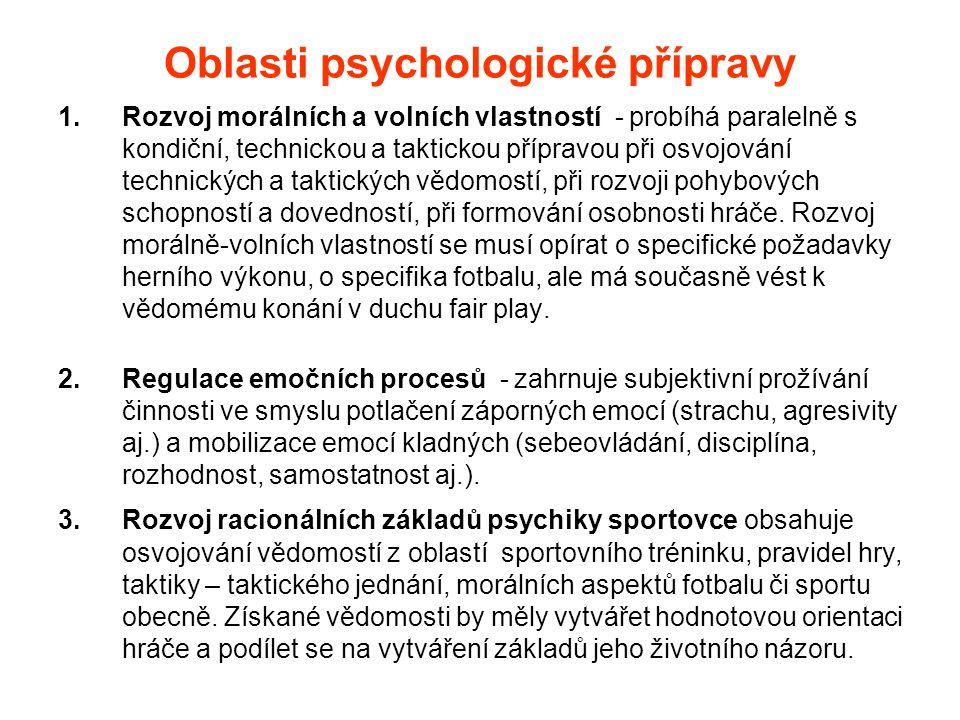 Oblasti psychologické přípravy