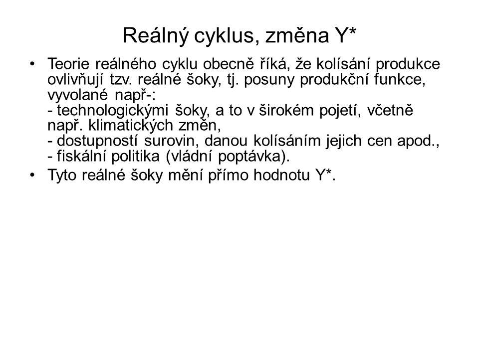 Reálný cyklus, změna Y*